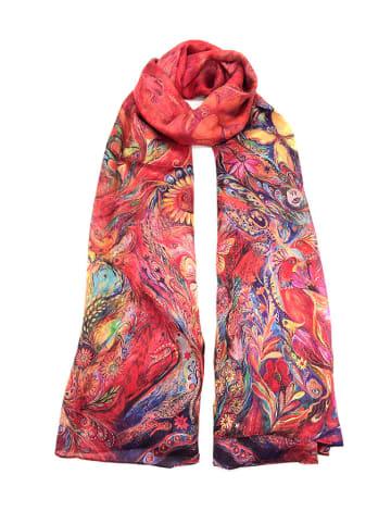 Made in Silk Seiden-Schal in Rot/ Bunt - (L)180 x (B)90 cm