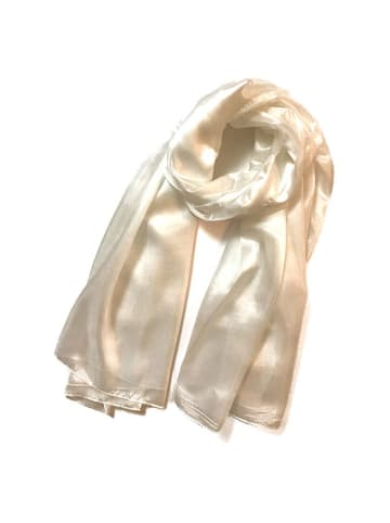 Made in Silk Jedwabny szal w kolorze ecru - (D)180 x (S)90 cm