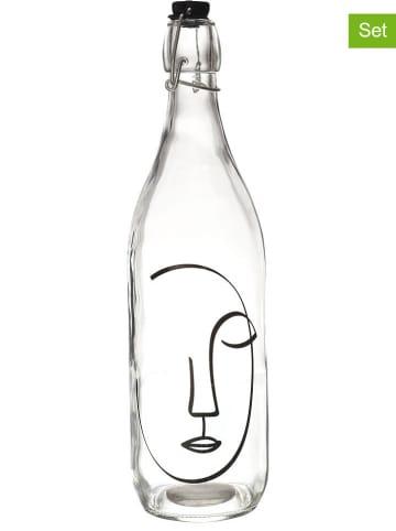 Garden Spirit 3-delige set: glazen flessen - 1 l