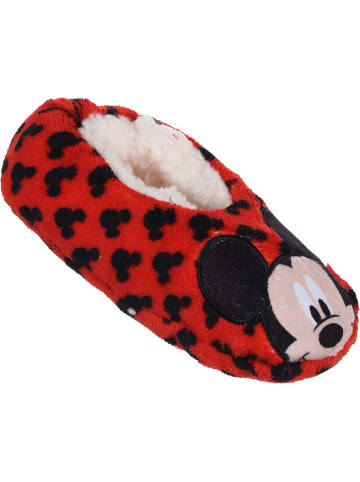 """Disney Mickey Mouse Hausschuhe """"Minnie Mouse"""" in Rot/ Schwarz"""