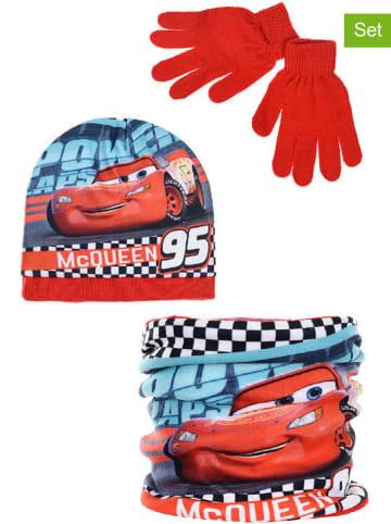 """Disney Cars 3-częściowy zestaw zimowy """"Cars"""" w kolorze czerwonym"""