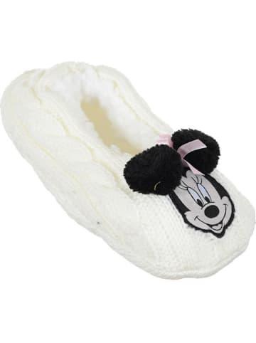 """Disney Minnie Mouse Kapcie """"Minnie Mouse"""" w kolorze kremowym"""