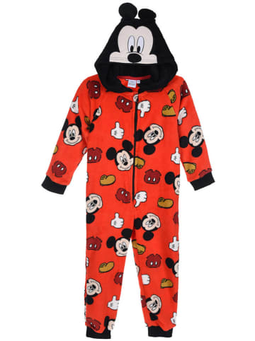 """Disney Mickey Mouse Fleeceoverall """"Mickey Mouse"""" in Rot/ Schwarz"""