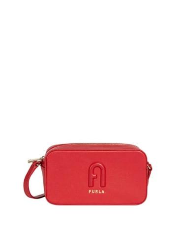 Furla Skórzana torebka w kolorze czerwonym - (S)7 x (W)3,9 x (G)2,3 cm