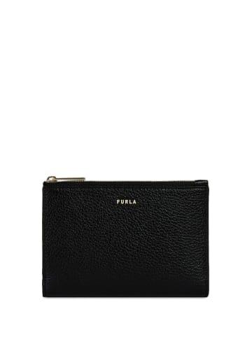 Furla Skórzane etui w kolorze czarnym na paszport - (S)15,2 x (W)10,7 x (G)2 cm