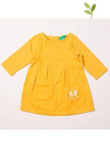 Little Green Radicals Sukienka w kolorze żółtym