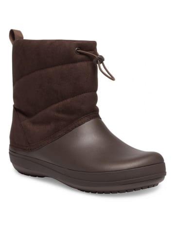 "Crocs Boots ""Crocband Puff"" donkerbruin"