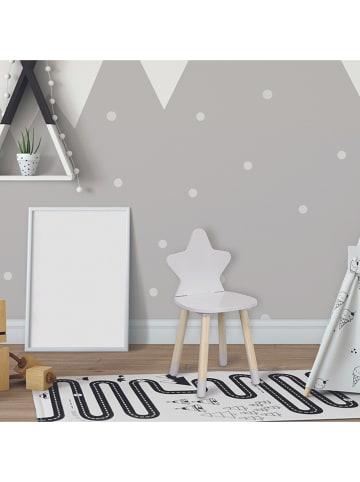 """The Home Deco Kids Krzesło dziecięce """"Etoile"""" w kolorze biało-jasnobrązowym - 28 x 54 x 27 cm"""