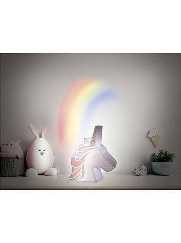 """The Home Deco Kids Projektor """"Licorne"""" w kolorze biało-jasnoróżowym - wys. 16 cm"""