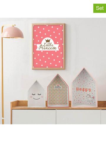 The Home Deco Kids 3er-Set Dekoboxen in Rosa/ Bunt