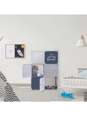 """The Home Deco Kids Modulregal """"Armoire"""" in Weiß/ Blau - (B)63 x (H)95 x (T)32 cm"""