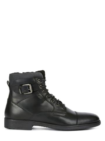 "Geox Leder-Boots ""Jaylon"" in Schwarz"