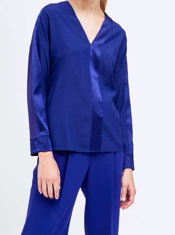 Strenesse Zijden blouse blauw