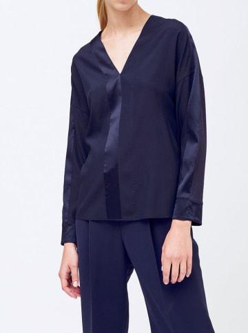 Strenesse Zijden blouse donkerblauw