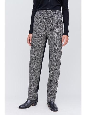 Strenesse Hose in Schwarz/ Weiß