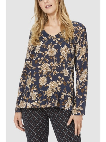Rich & Royal Blouse donkerblauw/bruin