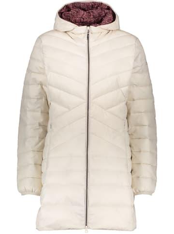 CMP Płaszcz zimowy w kolorze kremowym
