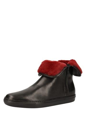 Sansibar Leder-Ankle-Boots in Schwarz