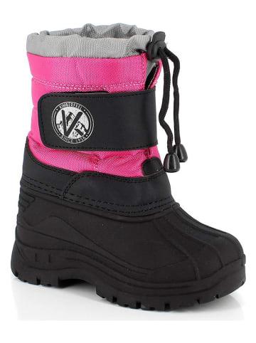 """Kimberfeel Kozaki zimowe """"Montreal"""" w kolorze czarno-różowym"""