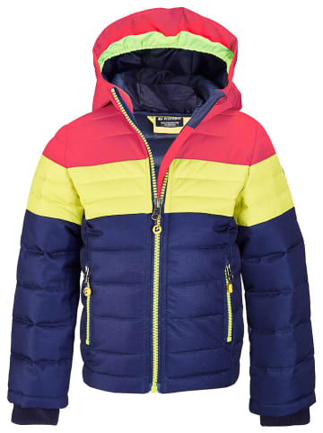 "Killtec Winterjas ""Lovy"" donkerblauw/geel/rood"