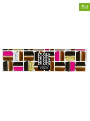 FAUCHON 4er-Set: Zartbitter- und Milchschokoladenvariationen - 4x 85 g