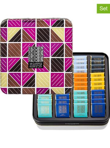 FAUCHON 4er-Set: Zartbitter- und Milchschokoladenvariationen - 4x 240 g