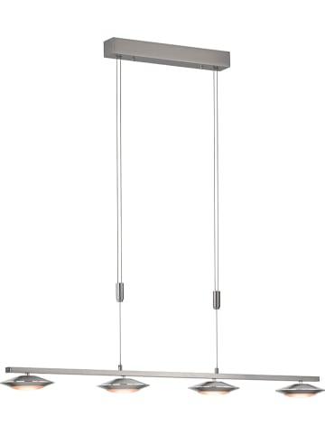"""FISCHER & HONSEL Ledhanglamp """"Beta"""" nikkelkleurig - (B)112 x (D)16 cm"""