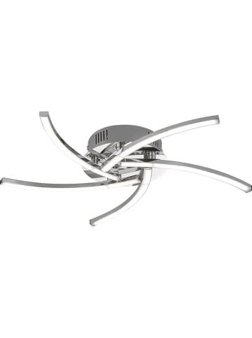 FH Lighting Ledplafonnière chroomkleurig - Ø 45 cm