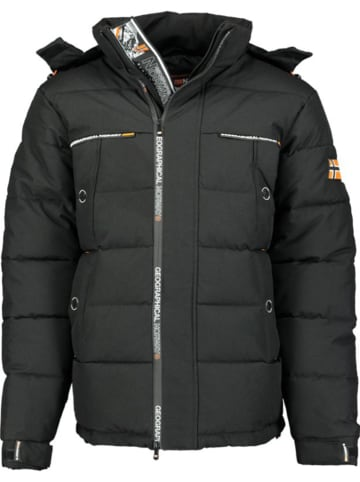 "Geographical Norway Winterjas ""Breakfast"" zwart"