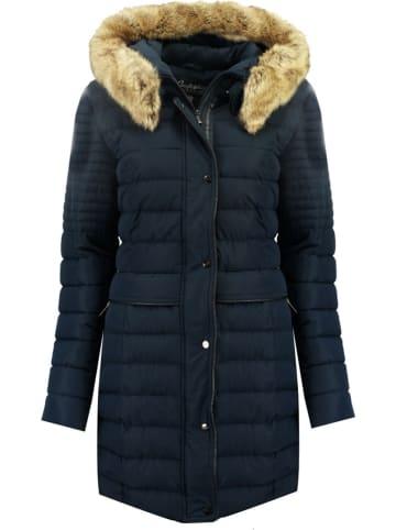"""Geographical Norway Płaszcz zimowy """"Charlize"""" w kolorze granatowym"""