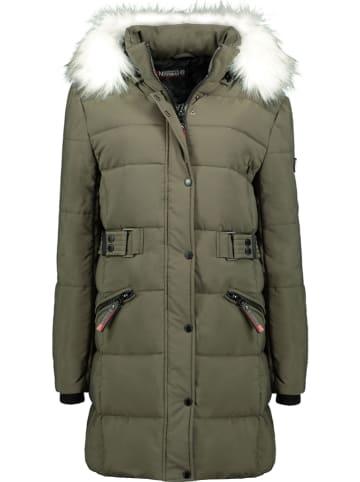 """Geographical Norway Płaszcz zimowy """"Berte"""" w kolorze khaki"""