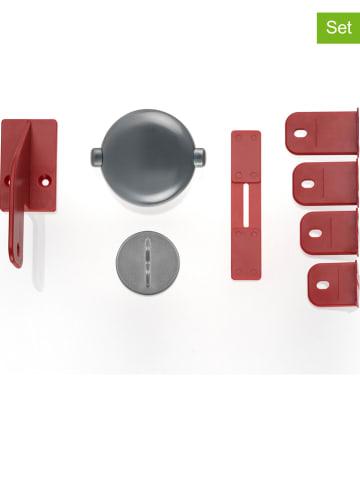 Reer 2-delige set: kastsloten voor dubbele deuren grijs