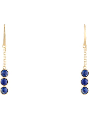 "Jovelli Vergulde oorhangers ""Luiza"" lapis lazuli"