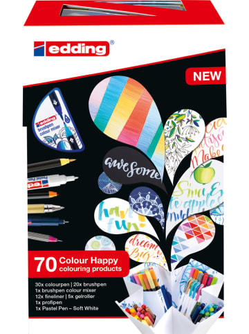 "Edding Pinselstifte ""Colour Happy Big Box"" - 70 Stück"