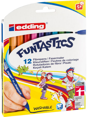 "Edding Viltstiften ""e-15 Funtastic"" - 12 stuks"