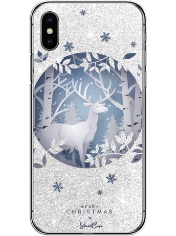 SmartCase Case für iPhone X/XS in Silber/ Blau