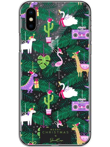 SmartCase Case voor iPhone X/Xs groen/paars