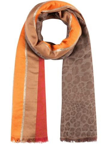 Codello Schal in Rot/ Orange/ Hellbraun - (L)180 x (B)100 cm