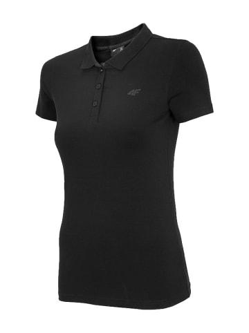4F Koszulka polo w kolorze czarnym