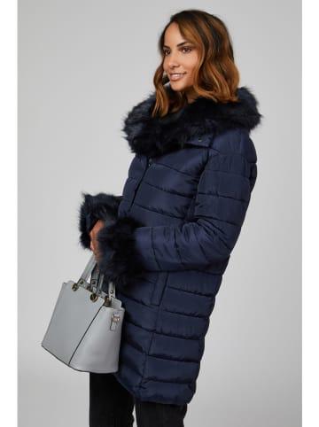 Curvy Lady Płaszcz zimowy w kolorze granatowym
