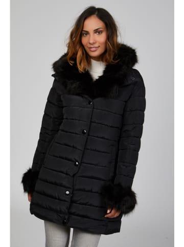 Curvy Lady Płaszcz zimowy w kolorze czarnym