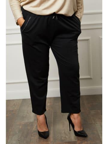 Curvy Lady Spodnie w kolorze czarnym