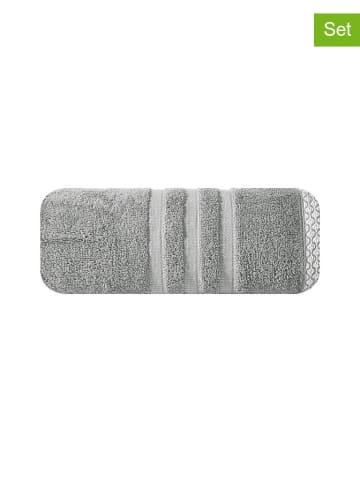"""Eurofirany Ręcznik """"Alan"""" (2 szt.) w kolorze stalowym"""