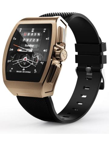 WHIPEARL Smartwatch w kolorze czarno-złotym