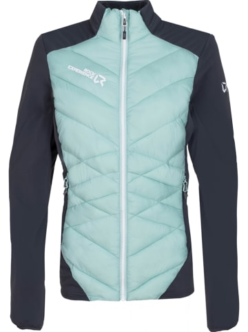 """ROCK EXPERIENCE Tussenjas """"Maty"""" turquoise/donkerblauw"""