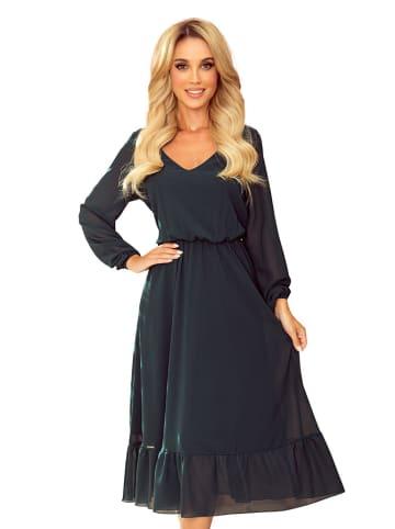 Numoco Sukienka w kolorze ciemnozielonym