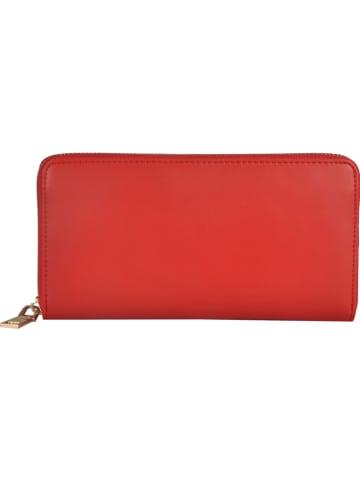 """Lattemiele Skórzany portfel """"Quero"""" w kolorze czerwonym - 20 x 10 x 2 cm"""