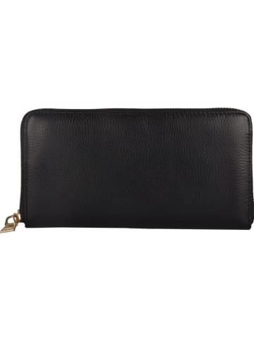 """Lattemiele Skórzany portfel """"Dole"""" w kolorze czarnym - 20 x 10 x 2 cm"""