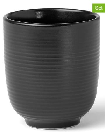 """Laguiole Kubki (6 szt.) """"Aya"""" w kolorze czarnym - 180 ml"""