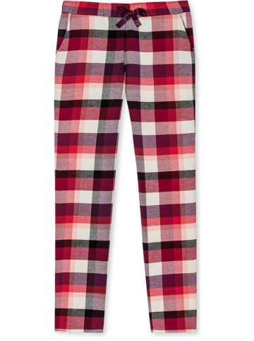 Schiesser Pyjama-Hose in Rot/ Lila/ Creme